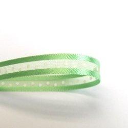 画像1: 6mm仕上げ水玉オーガンジー(黄緑色)
