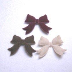 画像1: リボン型モチーフ【2個】