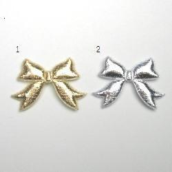 画像1: リボンモチーフ3(ゴールド・シルバー)【2枚】