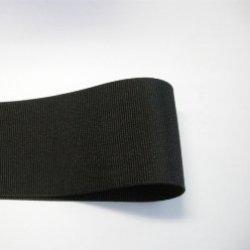 画像1: 50mm無地グログラン(黒色)