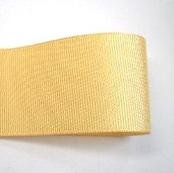 画像1: 40mm無地グログラン(薄い黄色)