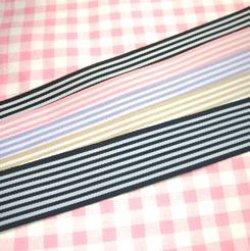 画像1: 【福袋】 ストライプ グログランリボン (25mm 5本セット)