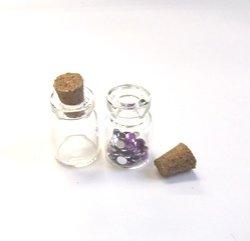 画像1: 2.2cmコルク栓ガラス瓶ミニ【1個】