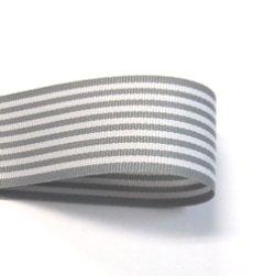 画像1: 25mmグレーストライプのグログラン