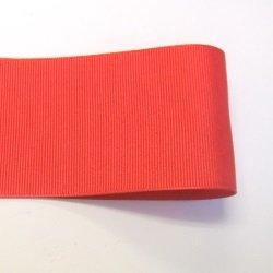 画像1: 50mm無地グログラン(赤色)