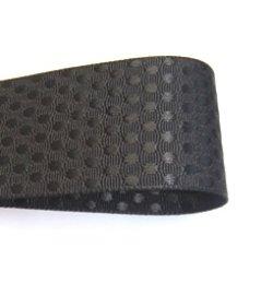 画像1: 40mmエンボスタイプのグログラン(黒)