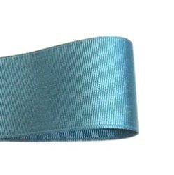 画像1: 40mm無地グログラン(青緑)