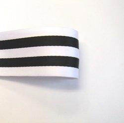 画像1: 40mm両面ストライプ厚地タイプ(白/黒)