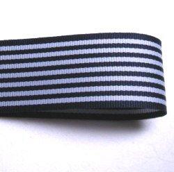 画像1: 25mm紺色のストライプのグログラン