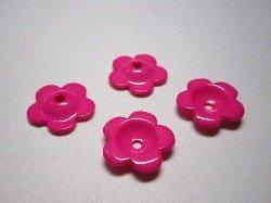 画像1: 18mmパール花カップ 濃いピンク【10個】