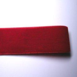 画像1: 25mm無地ベルベット(赤)