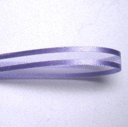 画像1: 7mmサイドサテンのオーガンジー(紫)
