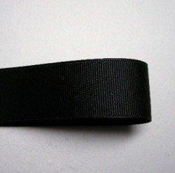 画像1: 25mm無地グログラン(黒色)