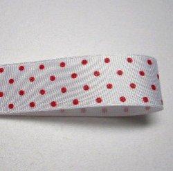 画像1: 白地に赤のドット柄
