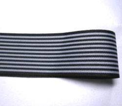 画像1: 40mm黒のストライプグログラン