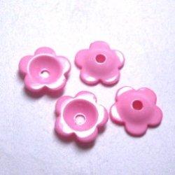 画像1: 18mm花カップ(ピンク)【10個】