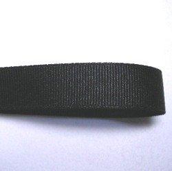 画像1: 15mm無地グログラン(黒)