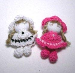 画像1: 三つ編みの少女【1個】