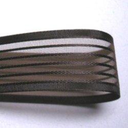 画像1: 25mm5段ストライプ(こげ茶)
