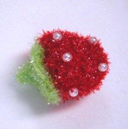 画像1: キラキラ編みいちご【1個】