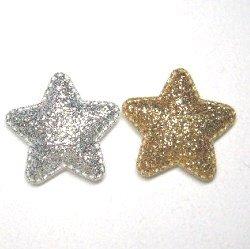 画像1: キラキラ光る星形クッション【1個】