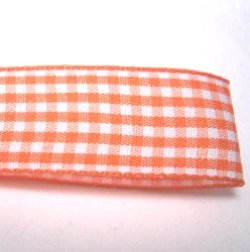 画像1: オレンジのチェックリボン