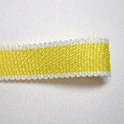 画像1: レース風ドット柄(黄色)