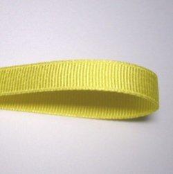 画像1: 10mm無地グログラン(黄色)