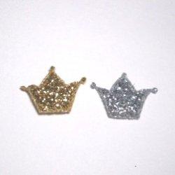 画像1: ラメ入り王冠モチーフ【2個】