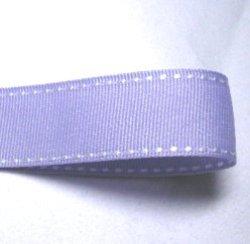 画像1: 25mmラベンダー地に白ステッチのグログラン
