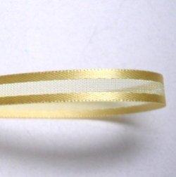 画像1: 6mmサイドサテンのオーガンジー(黄色)